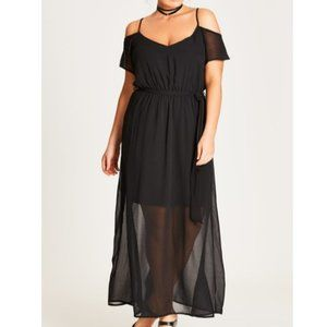 NWT City Chic - Sheer Maxi Dress - 16